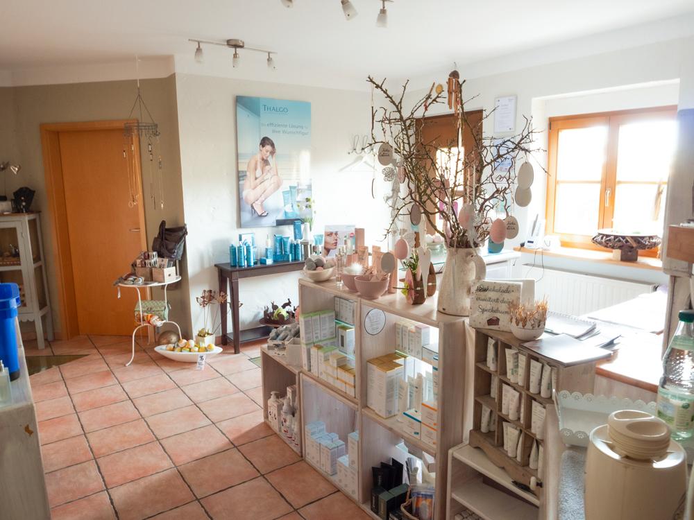 Cosmetic creativ: Der Verkaufsraum des Kosmetikstudios in Kulmbach-Windischenhaig.