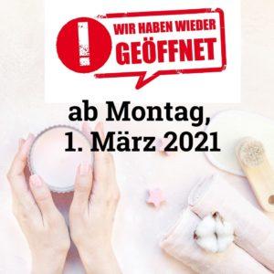 Kosmetikstudios: Wiedereröffnung am 1. März